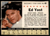 1961 Post Cereal #45 Ed Yost Very Good  ID: 144647