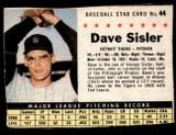 1961 Post Cereal #44 Dave Sisler Very Good  ID: 183309