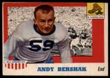 1955 Topps All American #7 Andy Bershak EX