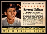 1961 Post Cereal #56 Haywood Sullivan Very Good  ID: 183325