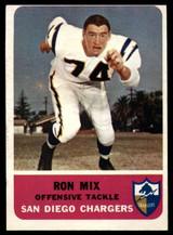 1962 Fleer #82 Ron Mix EX++
