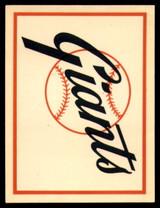 1961 Fleer Baseball Greats Team Logo Decals #16 San Francisco Giants EX/NM