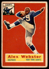 1956 Topps #5 Alex Webster EX RC Rookie ID: 90493