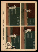 1959 Fleer Ted Williams #40 July 11, 1950 - Ted Crashes Into Wall EX Excellent
