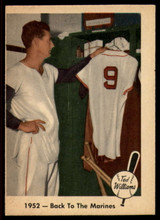 1959 Fleer Ted Williams #44 1952 - Back To The Marines EX Excellent