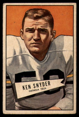 1952 Bowman Small #22 Ken Snyder VG Very Good  ID: 96217