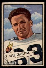 1952 Bowman Small #54 Glen Christian VG Very Good