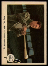 1959 Fleer Ted Williams #51 May 16, 1954 - Ted Is Patched Up EX++