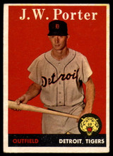 1958 Topps #32 JW Porter Tigers White Letters EX++