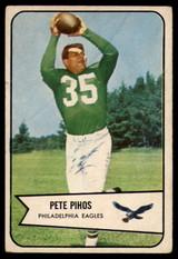 1954 Bowman #9 Pete Pihos VG Very Good  ID: 96278