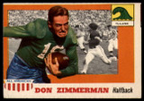 1955 Topps All American #49 Don Zimmerman VG/EX