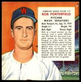 1955 Red Man #al10 Bob Porterfield VG/EX Very Good/Excellent