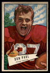 1952 Bowman Small #103 Don Paul G/VG Good/Very Good