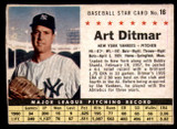 1961 Post Cereal #16 Art Ditmar Very Good  ID: 183285