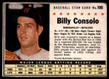1961 Post Cereal #100 Billy Consolo Very Good  ID: 199926