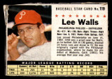 1961 Post Cereal #119 Lee Walls Very Good  ID: 199928