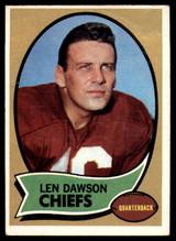 1970 Topps #1 Len Dawson UER VG ID: 78697