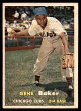 1957 #176 Gene Baker Correct Cubs EX/NM