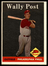 1958 Topps #387 Wally Post EX/NM  ID: 86409