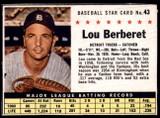 1961 Post Cereal #43 Lou Berberet Very Good
