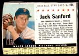 1961 Post Cereal #154 Jack Sanford Good  ID: 183400