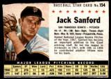 1961 Post Cereal #154 Jack Sanford Good  ID: 183403