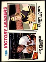 1977 O-Pee-Chee #5 Jim Palmer/Randy Jones Victory Leaders LL Ex-Mint