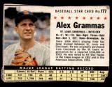 1961 Post Cereal #177 Alex Grammas Good