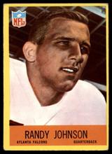 1967 Philadelphia #4 Randy Johnson Very Good RC Rookie ID: 141208
