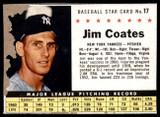 1961 Post Cereal #17 Jim Coates Good  ID: 183288
