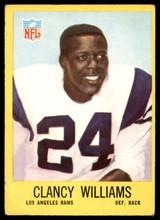 1967 Philadelphia #95 Clancy Williams Very Good RC Rookie