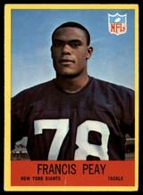 1967 Philadelphia #117 Francis Peay Very Good RC Rookie