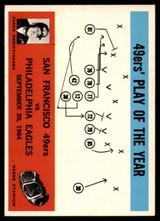 1965 Philadelphia #182 Jack Christiansen 49ers Play of the Year Very Good