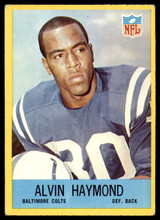 1967 Philadelphia #17 Alvin Haymond Very Good RC Rookie