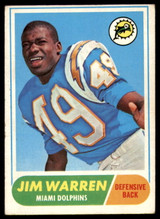 1968 Topps #66 Jim Warren Very Good