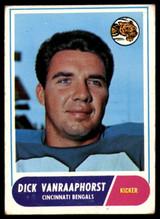 1968 Topps #70 Dick Van Raaphorst UER Very Good