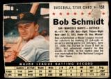 1961 Post Cereal #151 Bob Schmidt Poor