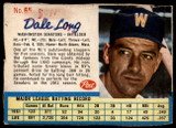 1962 Post Cereal #65 Dale Long Poor