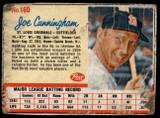 1962 Post Cereal #160 Joe Cunningham Poor  ID: 144476