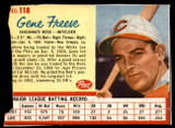 1962 Post Cereal #118 Gene Freese Poor