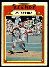 1972 Topps #44 Rick Wise IA Excellent