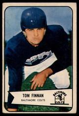 1954 Bowman #97 Tom Finnan Baltimore Colts VG