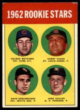 1963 #54 1962 Rookie Stars Excellent EX