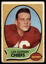 1970 Topps #1 Len Dawson UER G/VG