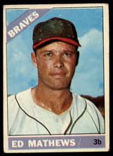 1966 Topps #200 Eddie Mathews VG  ID: 85121