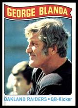 1975 Topps #7 George Blanda Black Jersey HL NM+ ID: 76935