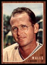 1962 Topps #129 Lee Walls Dodgers Near Mint NM