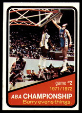1972-73 Topps #242 ABA Playoffs Game 2 NM ID: 78016