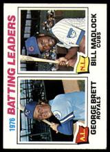 1977 Topps #1 George Brett/Bill Madlock Batting Leaders EX++
