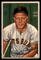 1952 Bowman #99 Clyde McCullough VG Very Good